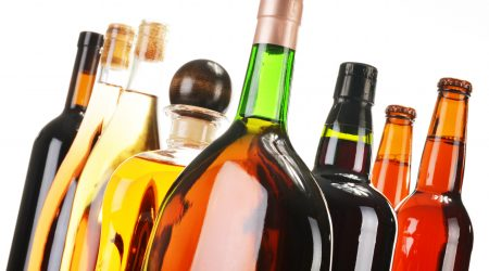 Alcohol Bottles - slanted